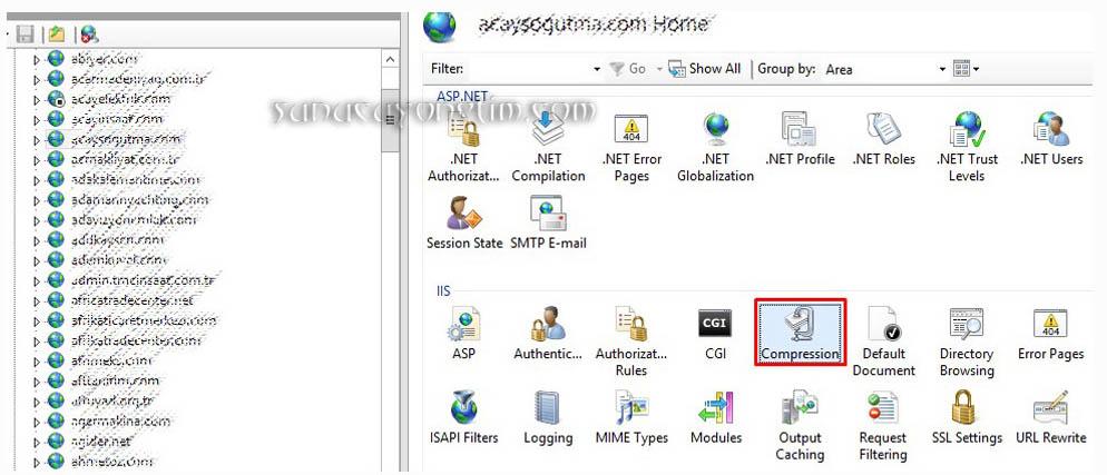 Windows sunucuda Gzip aktif etme